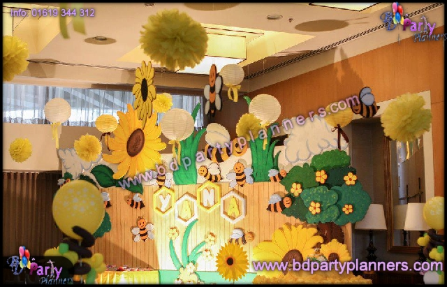 Honey Bee Birthday Party Decor Theme