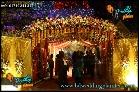 Bangladeshi Wedding Stage Flower Decoration