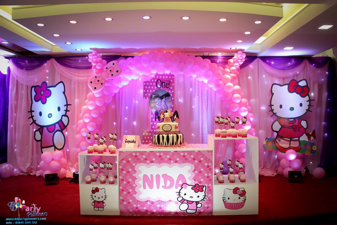 Hello Kitty Theme Birthday Party Planning Bd Dhaka