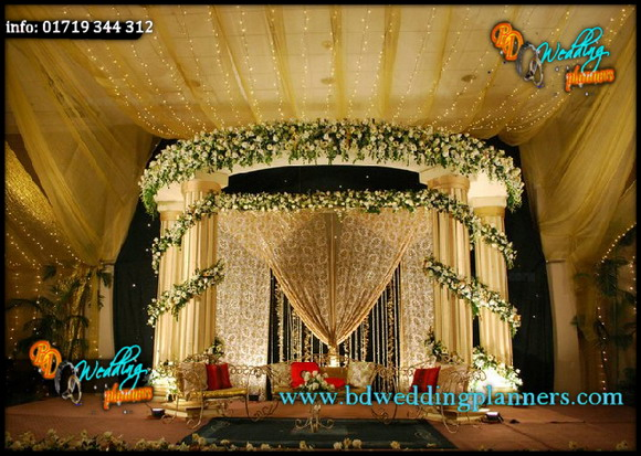 Wedding stage floral decoration for American wedding stage decoration