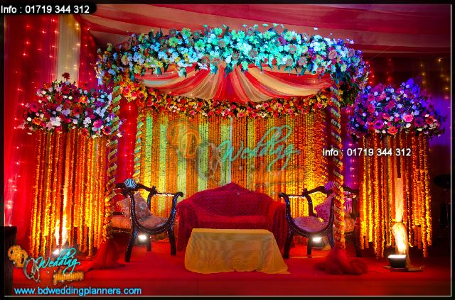 Holud Stage Decor BD Event Management amp Wedding Planners