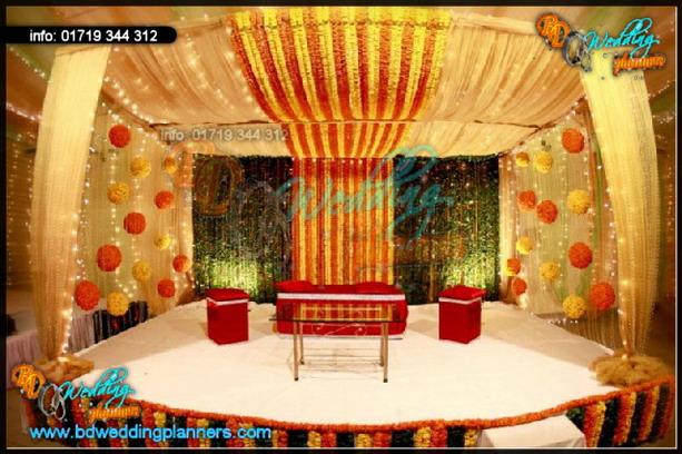 Bangladeshi Wedding Bed Decoration With Flowers : Wedding Decoration & flower stage - BD Event Management & Wedding ...